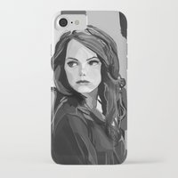 emma stone iPhone & iPod Cases featuring Emma Stone by Vito Fabrizio Brugnola