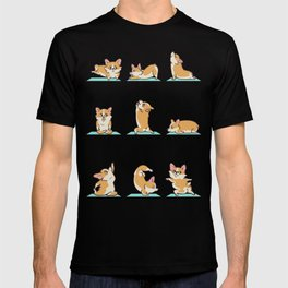 Corgi Yoga T-shirt