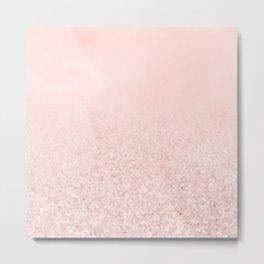 Blush Glitter Pink Metal Print