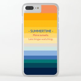 Summer Entertainment Clear iPhone Case