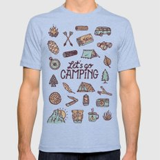 Lets Go Camping Tri-Blue Mens Fitted Tee X-LARGE