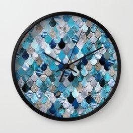 Mermaid Ocean Blue Wall Clock