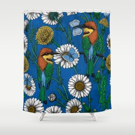 Bee eaters Shower Curtain