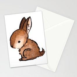 Watercolor Desert Animal: Desert Rabbit Illustration Stationery Cards