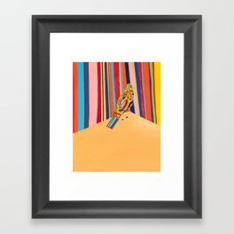 Naughtie Birdie Framed Art Print