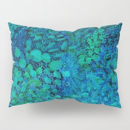 Peacock Watercolor Painting Pillow Sham