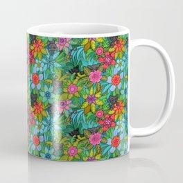 Pattern kitties and flowers Coffee Mug