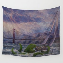 Seamonster's Lunch Wall Tapestry