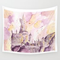 hogwarts Wall Tapestries featuring hogwarts by impalei