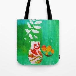 Fern & Peaches Still Life Tote Bag