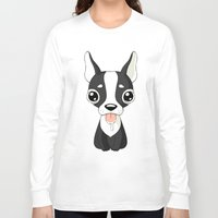 french bulldog Long Sleeve T-shirts featuring French Bulldog by Freeminds