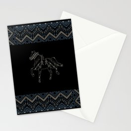 Ethnic pattern with american indian traditional ornament. Tribal background. Stationery Cards