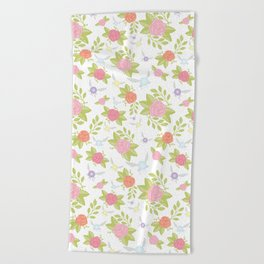 Garden of Fairies Pattern Beach Towel