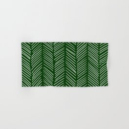 Forest Green Herringbone Hand & Bath Towel