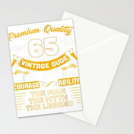 vintage man the guy misconception legend 65 years 65th birthday tee Stationery Cards