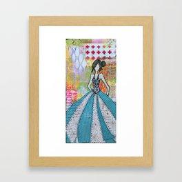 Blue Glamour Framed Art Print