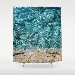 Crystal Blue Ripple Shower Curtain