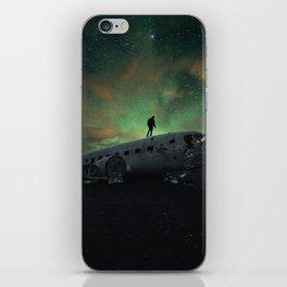 Black Beach Night iPhone Skin