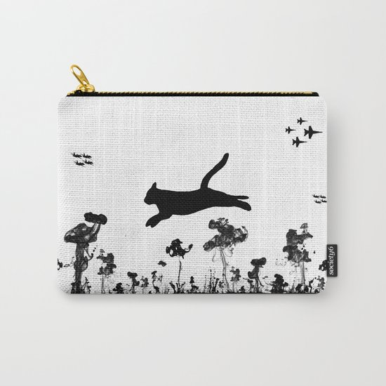 The Cat and Ink drop bombs Carry-All Pouch