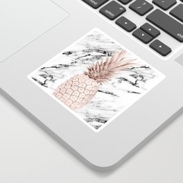 Pineapple Rose Gold Marble Sticker