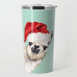 Christmas Sneaky Llama Travel Mug