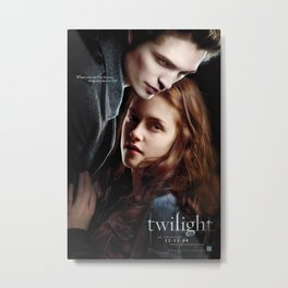 Twilight Movie Poster - Classic 00's Vintage Wall Film Art Print Metal Print