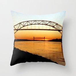 Cape Cod Bourne Bridge Throw Pillow