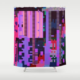 taintedcanvasmosh1 Shower Curtain