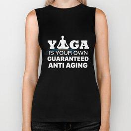 Yoga T-Shirt Yoga Is Guaranteed Anti Aging Apparel Gift Biker Tank