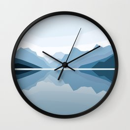 Blue Mountains Reflection Wall Clock