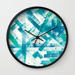 Aqua Blue Wall Clock