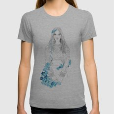 Forget me not. Womens Fitted Tee Athletic Grey SMALL
