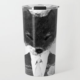 minima - dapper fox | noir Travel Mug