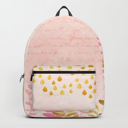 Orchid pink - golden rainforest Backpack