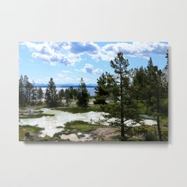 West Thumb Yellowstone Lake Metal Print