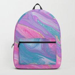 Pastel Glitter Liquid Art Backpack
