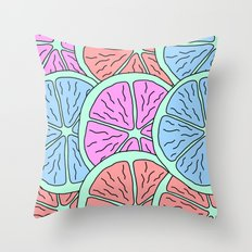 Spinning Citrus Throw Pillow