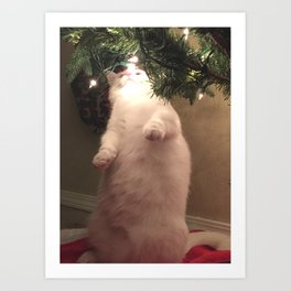 Meowy Christmas 3 Art Print