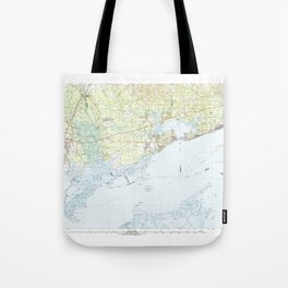 MS Gulfport 337214 1982 topographic map Tote Bag