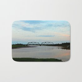 Sackville Train Bridge at Sunset Bath Mat