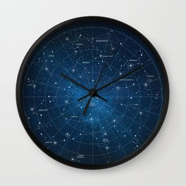 Constellation Star Map Wall Clock