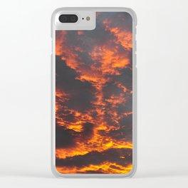 Incredible sunset. Lake Tekapo. New Zealand Clear iPhone Case