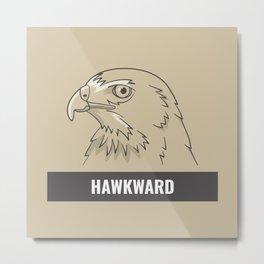 Hawkward Metal Print