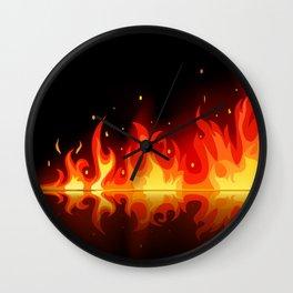 Feuer - Fire Wall Clock