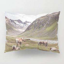 Tyrolean Haflinger horses I Pillow Sham