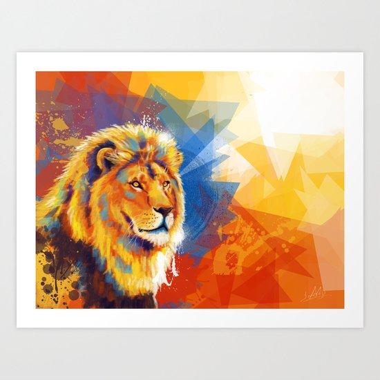 Majesty - Lion portrait Art Print