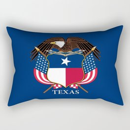 Texas flag and eagle crest concept Rectangular Pillow