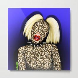 Katya leopard Metal Print