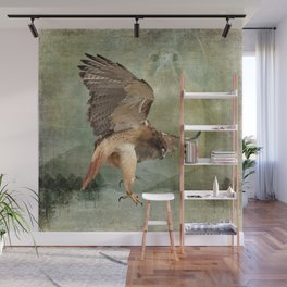 Feathered Fury Above Wall Mural