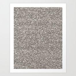 Silver Glitter I Art Print